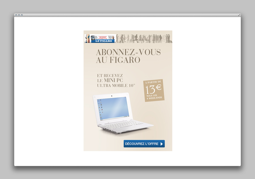 Le figaro - Emailing promotionnel